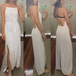 Indah Spark Maxi Dress in White